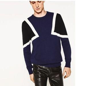 Zara Super Soft Geometric Design Sweater